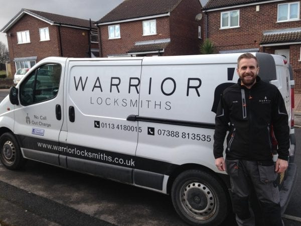 Locksmith Headingley owner and van 600x450